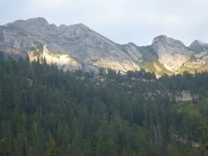 Kinzig Kulm Richtung - Weg - Sicht auf Lideren Hütte